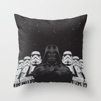 animal crew Throw Pillows featuring The crew by Roland Banrevi