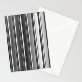 Aluminum silver stripe texture Stationery Cards