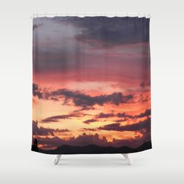 Sunrise Sherbet Shower Curtain