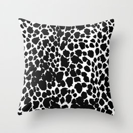 Animal Print Cheetah Black and White Pattern #4 2019 Throw Pillow