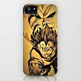 Vegeta and the Great Ape drawing iPhone Case