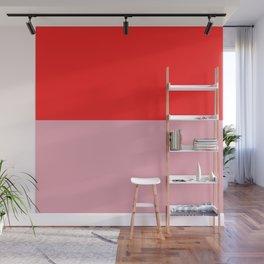 Watermelon Red & Peach Pink Wall Mural