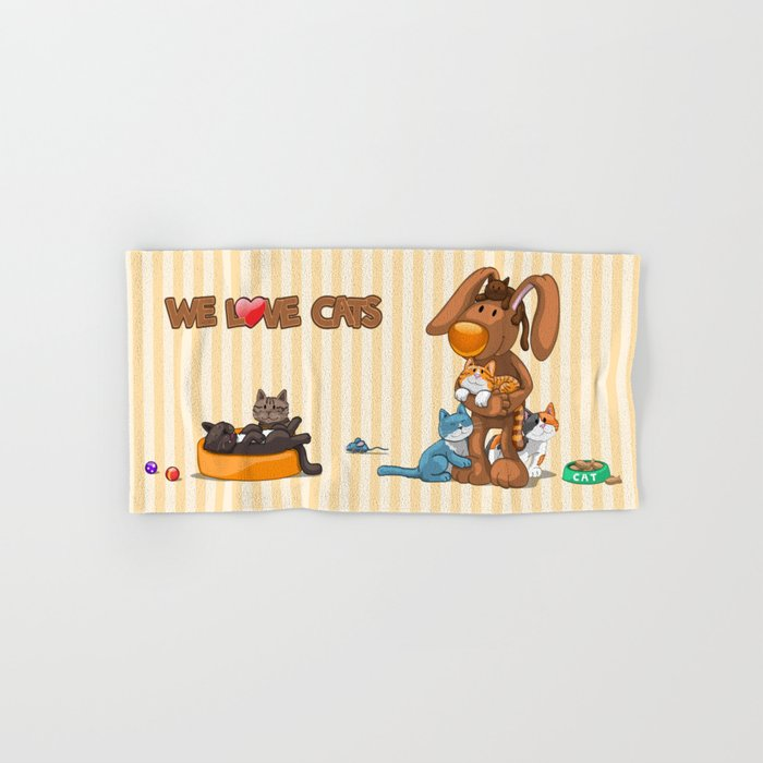 Rabbit catlover Hand & Bath Towel