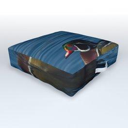 Colorful Wood Duck Outdoor Floor Cushion