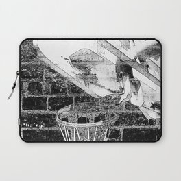 Black and white basketball artwork Laptop Sleeve