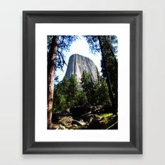 Devils Tower, Wyoming Framed Art Print