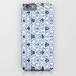 Shades of Blue Lace iPhone Case