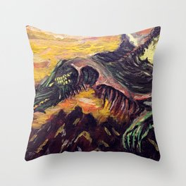 Blight Dragon Throw Pillow