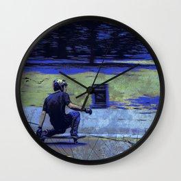 Just Cruisin'  - Skateboarder Wall Clock