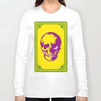 dia de los muertos Long Sleeve T-shirts featuring Dia De Los Muertos by D. H. Carter