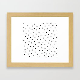 Black Cats Polka Dot Framed Art Print