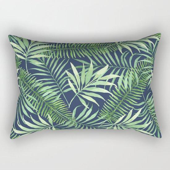 Tropical Branches on Dark Pattern 04 Rectangular Pillow