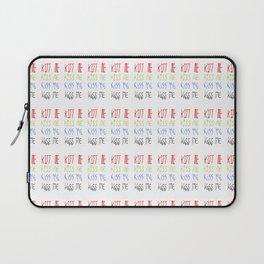 kiss me- kiss,smile,happy,fun,color,self esteem, good,positive,laugh,joy Laptop Sleeve