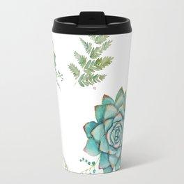 Fern and Succulent Pattern Travel Mug