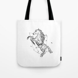 Geometric Season1:7 Horse Tote Bag