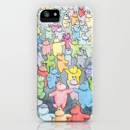 Time to dance! Hippo party illustration iPhone Case