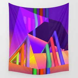 prism and refraction -2- Wall Tapestry