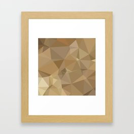 Burlywood Brown Abstract Low Polygon Background Framed Art Print