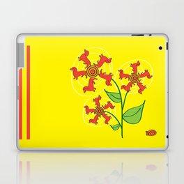 Doxie Flower Laptop & iPad Skin