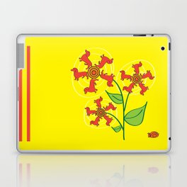 Doxie Flower Laptop & iPad Skin