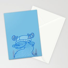 Blue Hairpin Stationery Cards