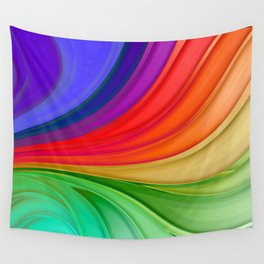Abstract Rainbow Background Wall Tapestry