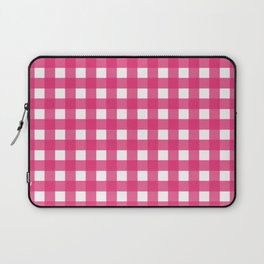 Farmhouse Gingham in Dark Pink Laptop Sleeve