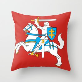 State Flag of Lithuania Knight On Red Throw Pillow