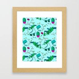 Little Knick-knacks//Blue//Pattern #1 Framed Art Print