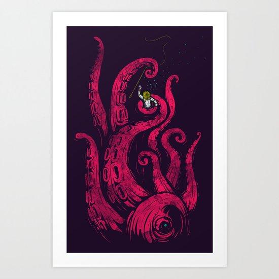 undersea attack (col. ver) Art Print