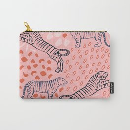 Tiger Print Carry-All Pouch
