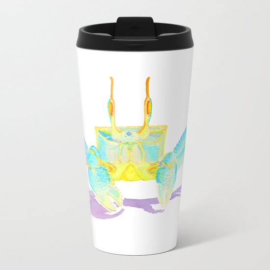 Turquoise Crab Metal Travel Mug