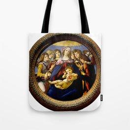 """Sandro Botticelli """"Madonna of the Pomegranate (Madonna della Melagrana)"""" Tote Bag"""