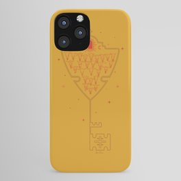 Key to Tejas - Mustard Yellow & Red iPhone Case