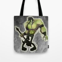 misfits Tote Bags featuring Misfits by Roe Mesquita