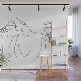 Double Fisting Wine Wall Mural
