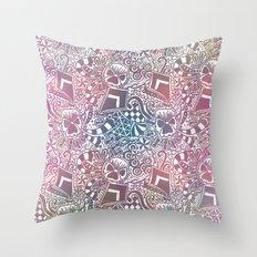 Theta Print-Pastel Throw Pillow