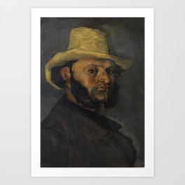 Gustave Boyer in a Straw Hat Art Print