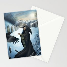 The Priestess of the Crows Stationery Cards