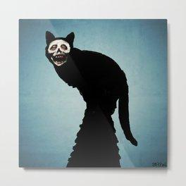 Skullcat Metal Print