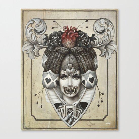 La reine rouge Canvas Print