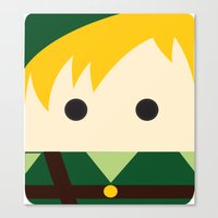 legend of zelda Canvas Prints featuring Legend Of Zelda Link  by heartfeltdesigns by Telahmarie