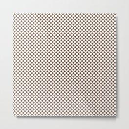 Toffee Polka Dots Metal Print
