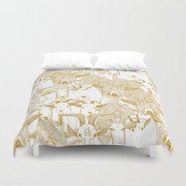 just goats gold Duvet Cover