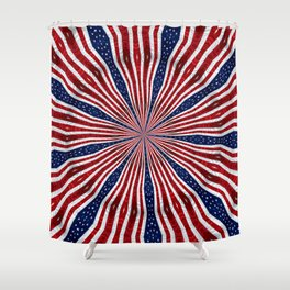 American Flag Kaleidoscope Abstract 1 Shower Curtain