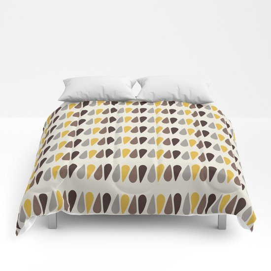 Pattern black brawn yellow Comforters