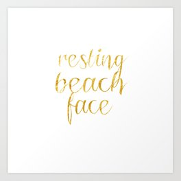 Resting Beach Face Art Print