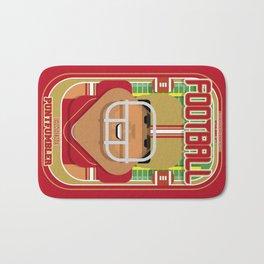 American Football Red and Gold - Enzone Puntfumbler - Seba version Bath Mat