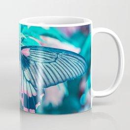 Teal and Peach Butterfly Coffee Mug