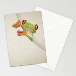 Little Red Eyed Tree Frog Stationery Cards